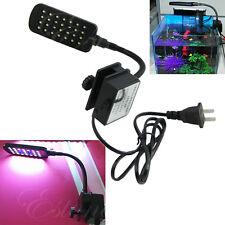Mini 28 LED Aquarium Fish Tank Clamp Clip Lamp Light White&Blue Color Lighting