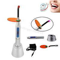 Dental 5W Wireless Cordless LED Curing Light Lamp 1500MW Silver Oral Teeth Care