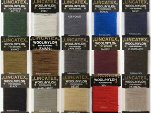 Lincatex Thread for Darning & Mending  30% Wool 70% Nylon 10 Metres Many Colours