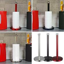 STAINLESS STEEL KITCHEN TISSUE ROLL HOLDER POLE PAPER TOWEL STAND ORGANISER