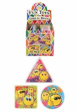 24 SMILEY FACE MAZE Mini Puzzle Party Bag Fillers Children's Fun Pinata Toy
