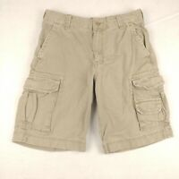 Mossimo Mens 30 Cargo Shorts Beige Casual Flat Front Zip Fly Multi Pocket Cotton