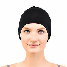 Jasmine Silk Bamboo Sleep Cap - Suitable for Chemo & Hair Loss Black