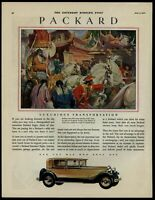 Packard Automobile 1930 Color Saturday Evening Post Advertisement