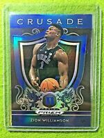 ZION WILLIAMSON ROOKIE CARD BLUE PRIZM RC  2019 Panini CRUSADE DUKE JERSEY #1 SP