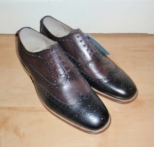 BNIB Clarks mens PENTON LIMIT leather combi brogues