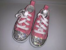Swarowski Rhinestone Baby Girl Converse Shoes Size 3