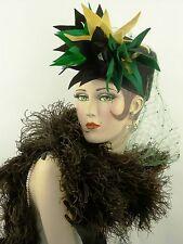 French 1920s struzzo vero PIUMA BOA, mai indossato, con etichette originali, rare trovare