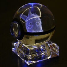 3D Gengar Crystal Pokemon pokeball Elf Night Bedroom desk table LED light lamp