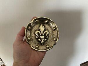 Cendrier Ancien Bronze Fleurs De Lys Royauté