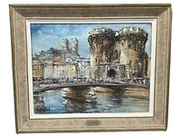 Oil Painting By Listed Impressionist Artist Raymond Besse (1899-1969)
