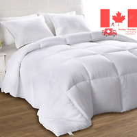 Utopia Bedding Down Alternative Comforter (White, Queen) - All Season Comfort...
