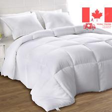 Utopia Bedding Down Alternative Comforter (White, Queen) - All Season Comfort...