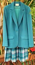 Pendleton Pleated Skirt Tailored Jacket 100% Virgin Wool Vintage Usa