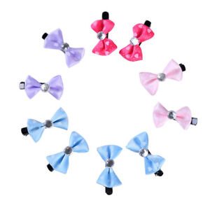 AM_ 10Pcs Dog Puppy Cat Bow Hairpin Cute Pet Hair Clips Grooming Accessories Mys