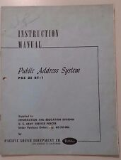 Original Manual PAS 25BT-A Public Address System