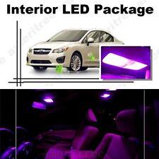 For Subaru Impreza WRX 2004-2018 Pink LED Interior Kit + Pink License Light LED