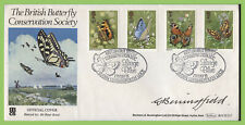G.B. 1981 Butterflies set on Benham First Day Cover, signed by Benningfield