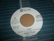 "FREDA PAYNE 45 ""YOU"" RARE ABC WHITE LABEL PROMO NORTHERN SOUL  1975 EX-NM CLEAN"