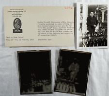 1942 John Deere Real Photo & Negatives Russell Strohecker Mt Carroll Il