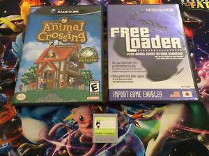 Animal Crossing Nintendo Gamecube Game NTSC USA & Free Loader & Memory Card!!