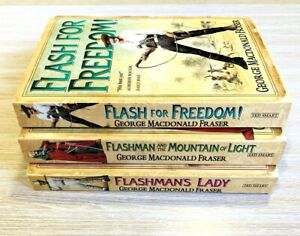 George MacDonald Fraser - Flashmans Lady, Freedom, Mountain Of Light FREE POST