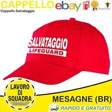 CAPPELLINO CAPPELLO UOMO DONNA MAGLIA BAGNINO SALVATAGGIO SOS CANOTTA LIFEGUARD