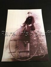 Sitting Upon A Penny Farthing In Ireland - Man & Bike in 1800's Transport Print