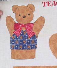 Teddy Bear cloth cotton fabric panel Teaching Hand Puppet cut n sew