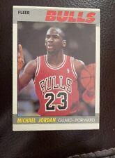 1987-1988 Fleer Michael Jordan Chicago Bulls #59 Basketball Card.