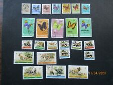 25  TANZANIA  WILDLIFE & BUTTERFLIES  STAMPS