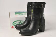 Martino Boots - Ladies Black Leather Posh Motorcycle 094153-01 Size 11 w/Lining