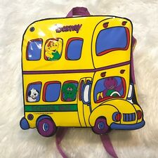 "VINTAGE BARNEY SCHOOL BUS BACKPACK ""NWT"" LYONS BAG"