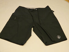 Men's Volcom 4 way stretch A0811531 black board shorts surf swim NWT 30