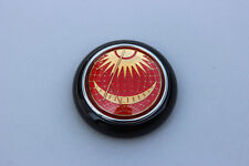 VW TYPE 12 BUG BUS PETRI RED SUN & MOON STEERING WHEEL HORN BUTTON BLACK BASE