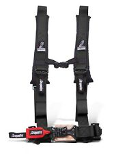 "Dragonfire Racing Black H-Style 4 Point 2"" Seat Belt Harness Sewn In Universal"