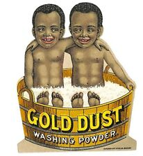 "RARE Gold Dust Washing Powder ""Women's Best Friend"" Die-Cut 3 x 3.25"" Tradecard"