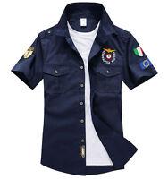 Summer Men Tactical AIRBORNE Military Short Sleeve Shirt Air Force Shirts Jacket