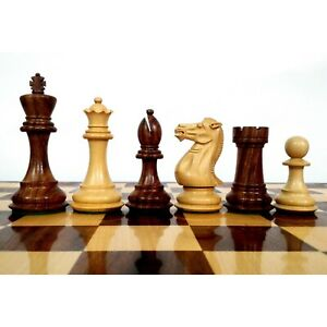 "4.1"" Pro Staunton Weighted Wooden Chess Pieces Only Set - Sheesham wood-4 queens"