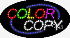 "Brand New ""Color Copy"" 27x15 Oval Solid/Animated Led Sign w/Custom Options 24095"