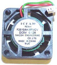 Shicoh 5v DC 0.12a IC FAN 25x25x10mm F2510AK-05VCV 2Wires