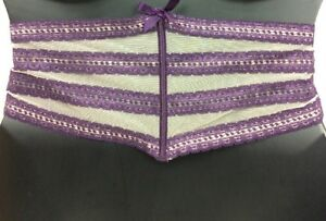 Sexy Waist Cincher Belt Purple Cacique Lane Bryant Lace Boning 18/20 22/24 26/28