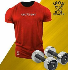 Cycologist T Shirt Gym Clothing Bodybuilding Training Workout Exercise Men Top