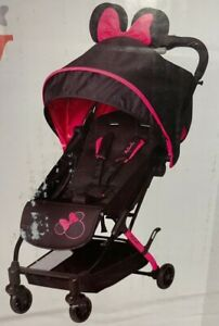 Disney Teeny Ultra Compact Stroller Let's Go Minnie Pink & Black