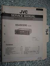 JVC ks-rx1010 service manual original repair book stereo tape deck car radio
