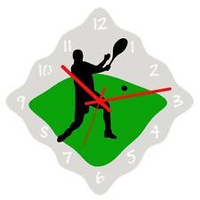 Euphyllia-Sports Mens Tennis Theme Wall Clock 32cm (e9606tenm)