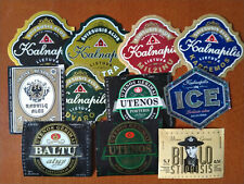 Lot of 10+ beer labels from LITHUANIA (all different)