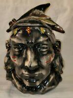 Vintage McCoy Pottery Cookie Jar Native American