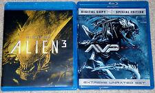 Horror Blu-ray Lot - Alien 3 (Used) AVP Requiem (Used)