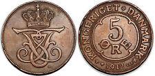 DENMARK  5 ORE 1912
